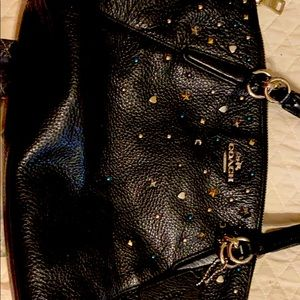 Authentic Coach bag with handles and sparkle